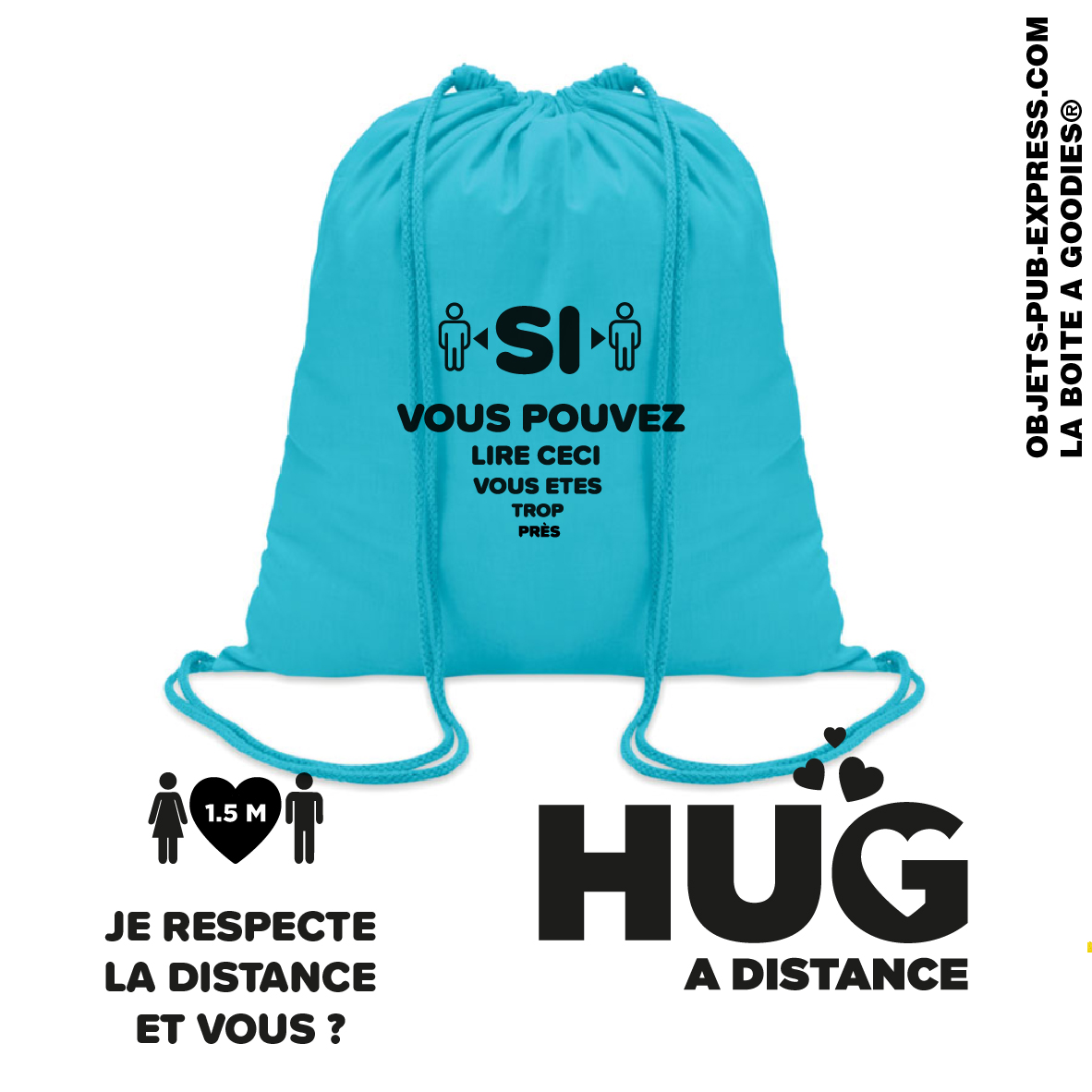 sac a dos ficelle message distanciation